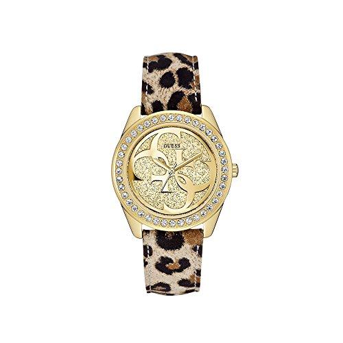 Guess–Reloj de pulsera analógico para mujer cuarzo piel w0627l7
