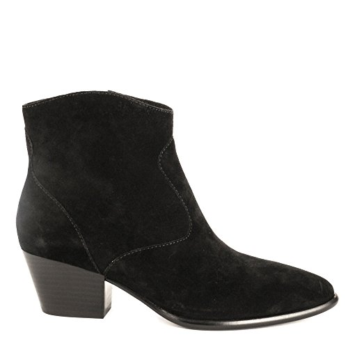 Ash Heidi Bis Ankle Boot Black Soft Suede - 4 UK