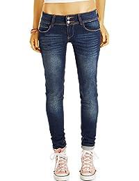 Bestyledberlin Damen Jeans, Skinny Fit Hosen stretchig, enge hüftige Röhrenjeans j67f