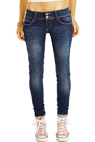 Enge Jeans Frauen Für (Bestyledberlin Damen Jeans, Skinny Fit Hosen stretchig, enge hüftige Röhrenjeans j67f 40/L)