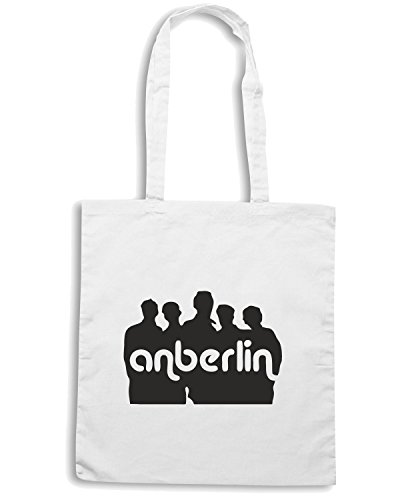 T-Shirtshock - Borsa Shopping FUN0571 anberlin band vinyl decal stickers 38121 Bianco