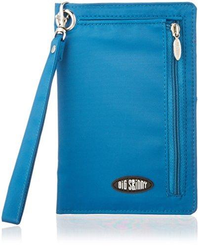 Big Skinny Women's RFID Blocking Plus Size myPhone Bi-Fold Slim Wallet, Holds Up to 20 Cards, Ocean Blue by Big Skinny (Big Skinny Bifold)
