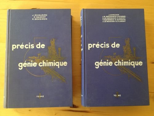 Precis de génie chimique, 2 volumes