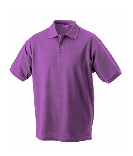 Herren Poloshirt Klassisches Polohemd mit Armbündchen Sport kurzarm Polo Shirts in verschiedene Farben Purple