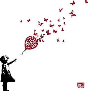 1art1 79080 Kinderwelten - Mädchen Mit Luftballon Und