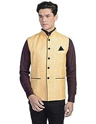 Chaqueta-chaleco Nehru de fiesta hecha de bandhgala y rayón para hombre Wintage - Available in Four Colors