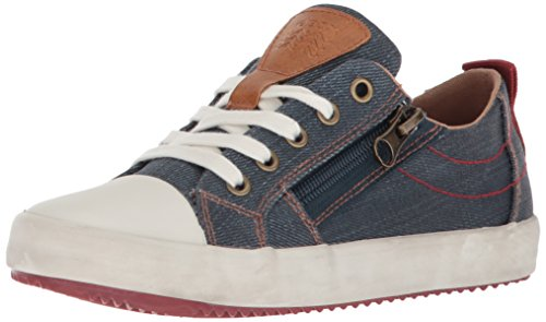 Geox Jungen J Alonisso D Low-Top Sneaker, Blau (Blue/Dk Red), 36 EU