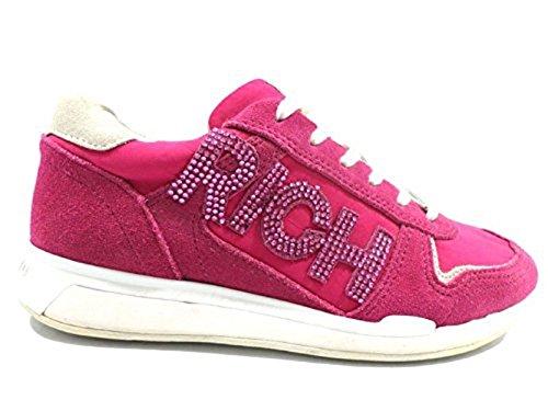 scarpe donna RICHMOND 35 EU sneakers fucsia camoscio tessuto AY886