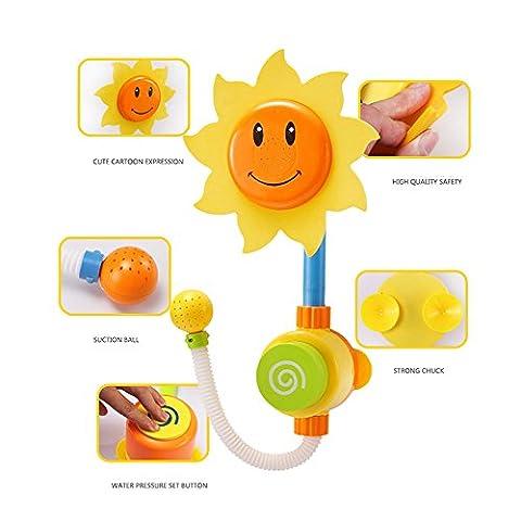 Zsjijia Baby Bad Spielzeug - Flow N Füllen Auslauf - drei stapelbare Tassen und automatisierte Auslauf von