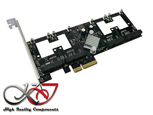 Raid-controller-board (Kalea Informatique Controller-Karte PCIe mSATA 3.0–4Ports–RAID 0/1/10–Chipsatz Marvell 88se9230–Professionelle/Komponenten, hochwertig–Treiber vorinstalliert für Windows/Mac/Linux.)