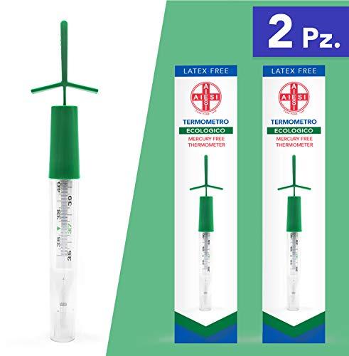 AIESI® Termometro Clinico clasico vidrio fiebre sin