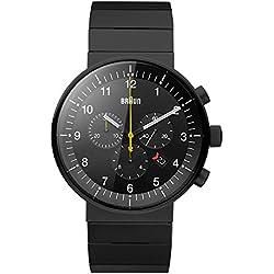 Braun Unisex-Armbanduhr Analog Quarz Edelstahl BN0095BKBKBTG