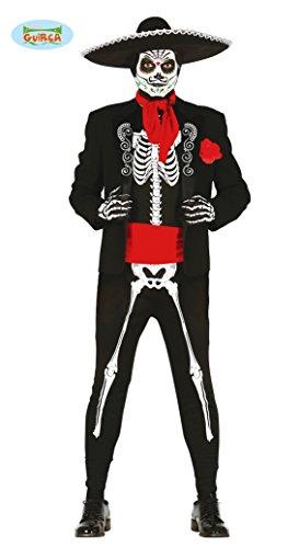 Mexikanischer Skelett Tänzer Gr. M - L , (Mariachi Kostüm)
