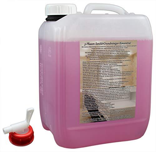 A.K.B. AKB 3 Phasen Sanitärreiniger GRUNDREINIGER KONZENTRAT Kraftgel, 0012 (10 L + kl.Hahn), Badreiniger