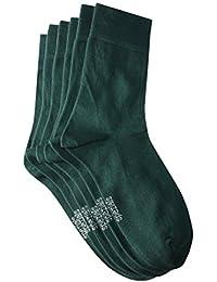 Weri Spezials Hommes Chaussettes x3 Vert Fonce