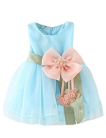 Little Sorrel Kinder Kleid Mädchen Weihnachten Karneval Tüll Schleife Party Kleider 6-36 Monate