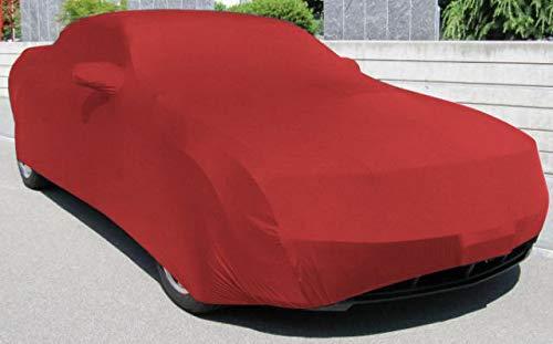 AMS Vollgarage Mikrokontur® Rot mit Spiegeltaschen für Ford Mustang ab 2010 (2010 Mustang Cover Car)
