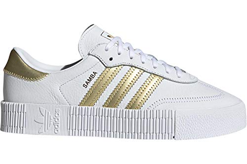 Adidas Sneakers Silber (adidas Originals Sneaker SAMBAROSE W EE4681 Weiß Gold, Schuhgröße:39 1/3)