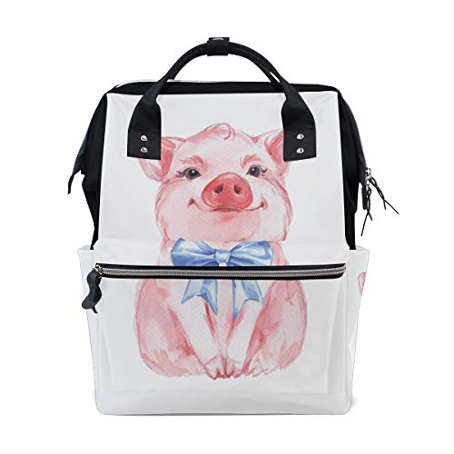 �ck Tier Nettes Schwein Große Kapazität Windel Taschen Mummy Rucksack Multi Funktionen Wickeltasche Tasche Handtasche Für Kinder Baby Care Travel Täglichen Frauen ()