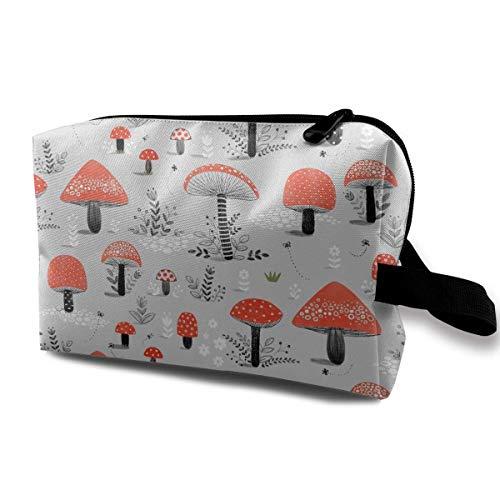 751db904292b Mushroom Pattern Magic Makeup Bag Lazy Cosmetic Bag Portanle Travel Handbag