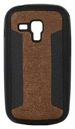 iCandy™ 2 Color Soft Lather Finish Back Cover For Samsung Galaxy S Duos S7562 / S7582 - Golden  available at amazon for Rs.119