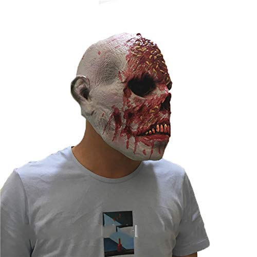 LJSHU Halloween Gruselige Horror Zombie Maske Kapuze Biohazard -
