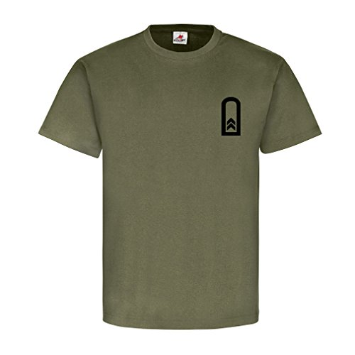 Oberfeldwebel Dienstgrad Bundeswehr BW Abzeichen Schulterklappe Aufschiebeschlaufe Unteroffizier Offizier Mannschafter Truppendienst- T Shirt Herren oliv #15888