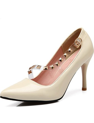 WSS 2016 chaussures en cuir verni d'été des femmes / pointue de bureau orteil talons&carrière / stiletto occasionnel talon sequinblack / rouge beige-us10.5 / eu42 / uk8.5 / cn43