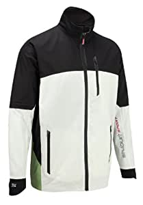 Stuburt Men's Sport Waterproof Jacket - Black/White, Small