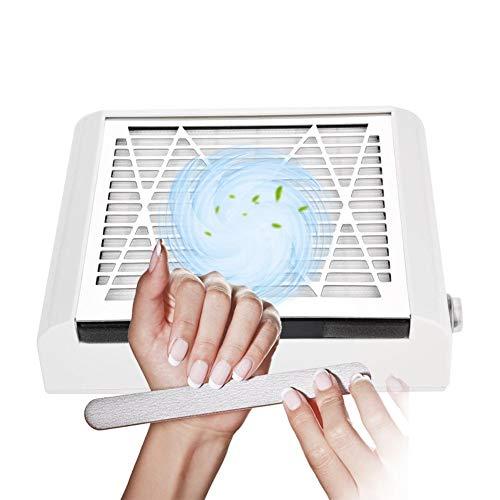 Aspirador de uñas, 40W uñas Fan Art Salon ventosa polvo coleccionistas acrílico UV Gel eléctrica...