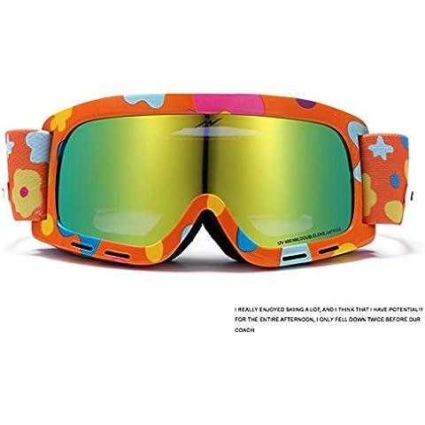 espejo antivaho de esquí de doble capa conjuntos esféricos de hombres y mujeres modelos de la miopía gafas de esquí, 15 cm de ancho del marco, la altura del espejo: los 7.5cm ( Color : X )