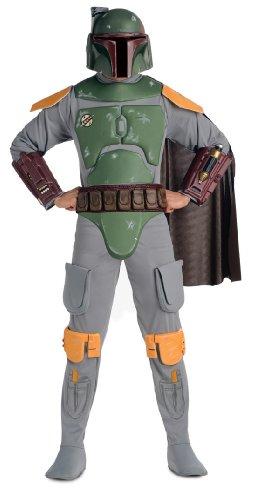 Star Wars Deluxe Herren Kostüm Boba Fett Größe M/L (Clone Trooper Kostüme Erwachsene)