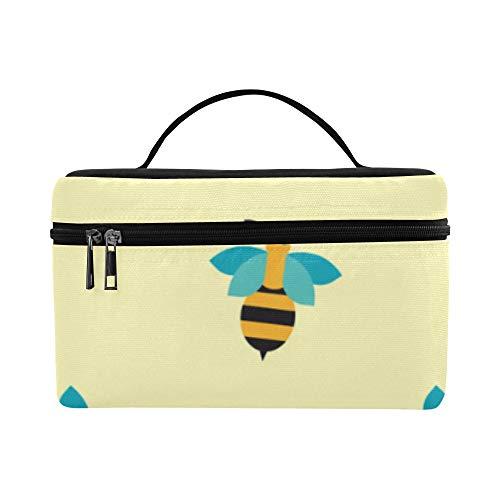 (Bee Fleißige Doppelflügel Insekt Große Kapazität Größe Dame Kosmetiktasche Makeup Organizer Lunchbox Tote Halter Fall Kühler Für Mädchen Frauen Reise Picknick)