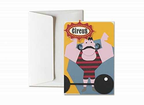 circus-series-n1-little-man-strongman-mustache-friendly-greeting-card-with-envelope-6-x-41-hand-made
