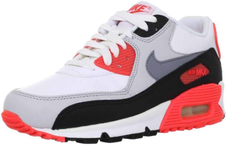 nike air max junior-38 90 junior-38 max chaussures blanches 71987c
