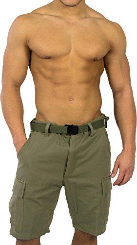 normani BDU Bermuda Short für Herren Farbe Oliv Größe L - Grüne Jeans-shorts
