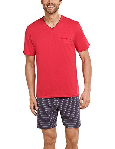 Schiesser Herren Anzug kurz\' Schlafanzughose, Rot, XXX-Large (Herstellergröße: 058)