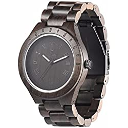Uwood Sandalwood Natural Wooden Watch Mens Quartz Watches Japanese Quartz Movement Perfect as a Christmas Present Black