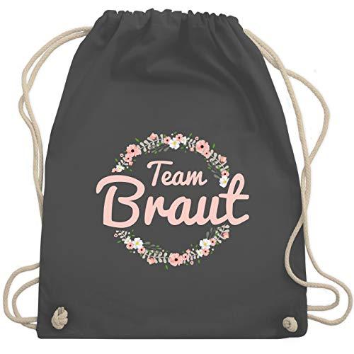 bschied - Team Braut Blumenkranz rosa - Unisize - Dunkelgrau - WM110 - Turnbeutel & Gym Bag ()