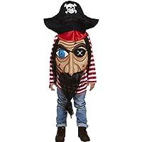 Jumbo Cara Pirate del Caribe Disfraz infantil niño niña Edad 4-12 - Multicolor, Children: M