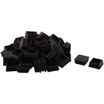 Sourcingmap/® Table en Plastique Jambe Pieds Chaise Tube Tuyau Ins/érer Embout Noir 25mm x 12mm 40 PCS