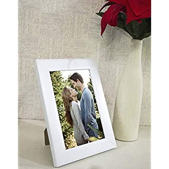 Art Street Art Street Synthetic White Wall/Table Photo Frame (6 inches x 8 inches, Matted to 4 x 6 Inches)
