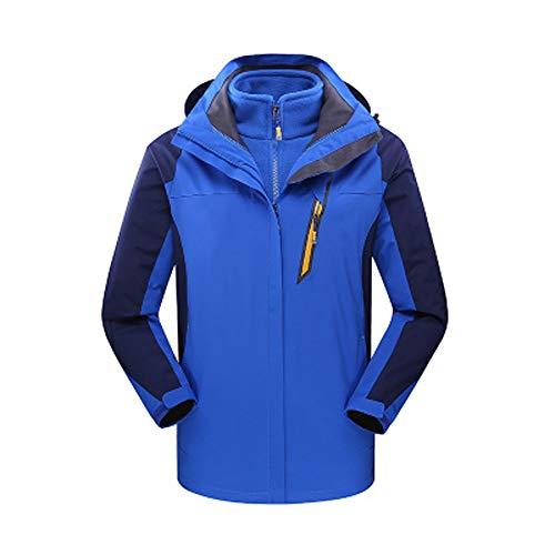 Yazidan Herren Winter Outdoor-Outfit Zweiteilige DREI in Einem warmen,  Wasserdichten Windjacke atmungsaktive Mantel Jacke Funktionsjacke  Übergangsjacke Mit ... 50805d5869
