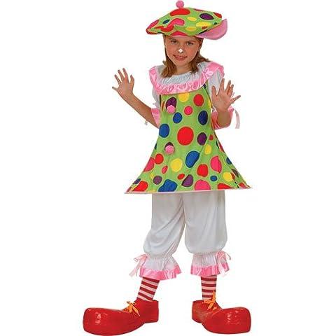 CoCo Der Zirkus Clown Verkleidung für Mädchen Fasching Halloween Party Kostüm L (Halloween Kostüme Arts And Crafts)