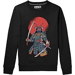 BLAK TEE Hombre Vintage Japanese Samurai Camisa De Entrenamiento L