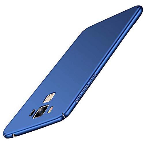 cmdkd ASUS Zenfone 3 Max ZC553KL Hülle, Zenfone 3 Max ZC553KL Case Ultra Dünne Hart PC Hardcase Handyhülle Stoßfest Schutzhülle Anti-Fingerabdruck Hüllen Anti-Scratch Bumper Cover + Panzerglas,Blau