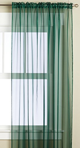 Editex Heimtextilien Monique Sheer Fenster Panel, 58 von 241 cm, grün Monique Panel