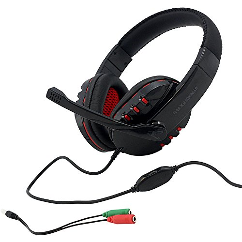 Woxter Stinger FX 80 H -  Auriculares Gaming 2.0 con Micrófono para PS4 – PC – Xbox One – Switch…,  reducción de ruido,  diadema ajustable,  micrófono Omnidireccional y adaptador 2 en 1 incluido