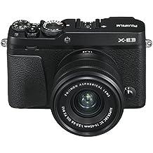 """Fujifilm X-E3 Black Fotocamera Digitale 24MP con Obiettivo XC15-45mmF3.5-5.6 OIS PZ, Sensore CMOS X-Trans III APS-C, Mirino EVF, Schermo LCD Touchscreen 3"""", Filmati 4K, WiFi e Bluetooth, Nero"""