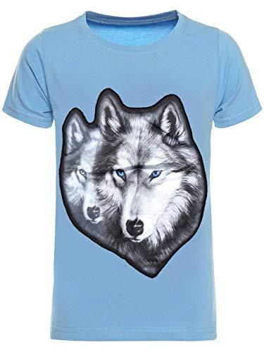 BEZLIT Kinder T-Shirt Jungen Shirt Kurzarm T-Shirts LED Licht Effekt 30038 Hellblau 104
